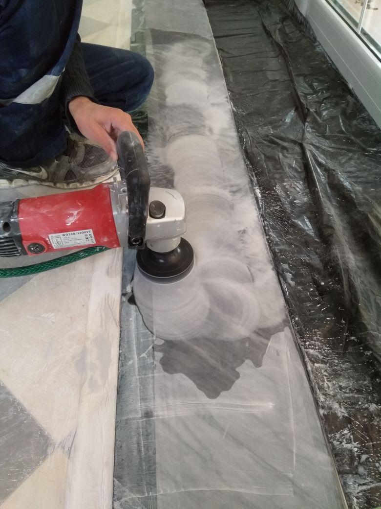 Шлифовка, полировка и кристаллизация мраморного пола