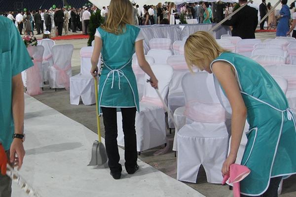 уборка после вечеринки корпоратива