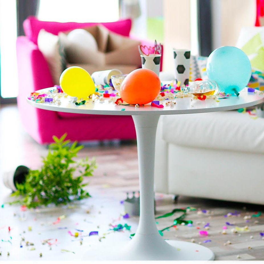 уборка после вечеринки