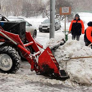 чистка парковки от снега